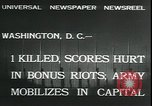 Image of bonus marchers expelled Washington DC, 1932, second 3 stock footage video 65675076860