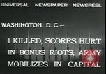 Image of bonus marchers expelled Washington DC, 1932, second 4 stock footage video 65675076860