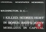 Image of bonus marchers expelled Washington DC, 1932, second 5 stock footage video 65675076860
