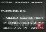 Image of bonus marchers expelled Washington DC, 1932, second 7 stock footage video 65675076860