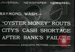 Image of emergency printed money after bank failure in Great Depression Raymond Washington USA, 1932, second 1 stock footage video 65675076861