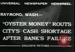 Image of emergency printed money after bank failure in Great Depression Raymond Washington USA, 1932, second 2 stock footage video 65675076861