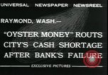 Image of emergency printed money after bank failure in Great Depression Raymond Washington USA, 1932, second 3 stock footage video 65675076861