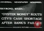 Image of emergency printed money after bank failure in Great Depression Raymond Washington USA, 1932, second 4 stock footage video 65675076861
