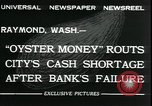 Image of emergency printed money after bank failure in Great Depression Raymond Washington USA, 1932, second 5 stock footage video 65675076861