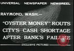 Image of emergency printed money after bank failure in Great Depression Raymond Washington USA, 1932, second 6 stock footage video 65675076861