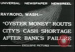 Image of emergency printed money after bank failure in Great Depression Raymond Washington USA, 1932, second 8 stock footage video 65675076861