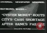Image of emergency printed money after bank failure in Great Depression Raymond Washington USA, 1932, second 9 stock footage video 65675076861