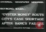 Image of emergency printed money after bank failure in Great Depression Raymond Washington USA, 1932, second 10 stock footage video 65675076861