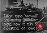 Image of coal mining machine United States USA, 1919, second 4 stock footage video 65675076894