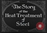 Image of heat treatment of steel United States USA, 1924, second 8 stock footage video 65675076898