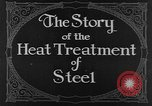 Image of heat treatment of steel United States USA, 1924, second 10 stock footage video 65675076898
