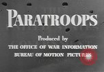 Image of American paratroopers United States USA, 1943, second 8 stock footage video 65675076952