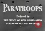 Image of American paratroopers United States USA, 1943, second 9 stock footage video 65675076952