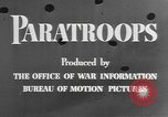 Image of American paratroopers United States USA, 1943, second 10 stock footage video 65675076952