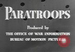 Image of American paratroopers United States USA, 1943, second 11 stock footage video 65675076952