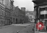 Image of Burning armored vehicle in city Nijmegen Netherlands, 1944, second 5 stock footage video 65675076969