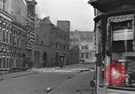 Image of Burning armored vehicle in city Nijmegen Netherlands, 1944, second 7 stock footage video 65675076969