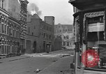 Image of Burning armored vehicle in city Nijmegen Netherlands, 1944, second 10 stock footage video 65675076969