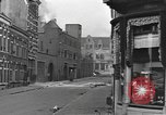 Image of Burning armored vehicle in city Nijmegen Netherlands, 1944, second 12 stock footage video 65675076969