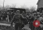 Image of American paratroopers greeted by civilians Nijmegen Netherlands, 1944, second 5 stock footage video 65675076980