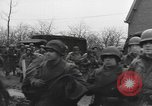 Image of American paratroopers greeted by civilians Nijmegen Netherlands, 1944, second 8 stock footage video 65675076980