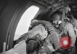 Image of US parachute infantry make practice drop in World War 2 England, 1944, second 7 stock footage video 65675077002