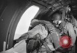 Image of US parachute infantry make practice drop in World War 2 England, 1944, second 8 stock footage video 65675077002