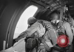 Image of US parachute infantry make practice drop in World War 2 England, 1944, second 9 stock footage video 65675077002