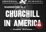 Image of Winston Churchill Washington DC USA, 1941, second 1 stock footage video 65675077053