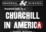 Image of Winston Churchill Washington DC USA, 1941, second 2 stock footage video 65675077053