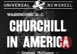 Image of Winston Churchill Washington DC USA, 1941, second 3 stock footage video 65675077053