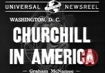 Image of Winston Churchill Washington DC USA, 1941, second 7 stock footage video 65675077053