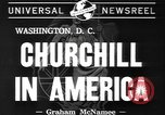 Image of Winston Churchill Washington DC USA, 1941, second 8 stock footage video 65675077053