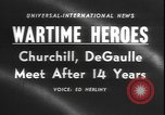 Image of Winston Churchill visits Premier Charles de Gaulle in Paris Paris France, 1958, second 4 stock footage video 65675077061