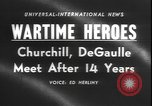 Image of Winston Churchill visits Premier Charles de Gaulle in Paris Paris France, 1958, second 5 stock footage video 65675077061