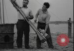 Image of First liquid fuel rocket is launched from Staten Island in New York Staten Island New York USA, 1933, second 10 stock footage video 65675077065