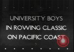 Image of College Students rowing boats Washington State United States USA, 1943, second 1 stock footage video 65675077072