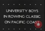 Image of College Students rowing boats Washington State United States USA, 1943, second 4 stock footage video 65675077072