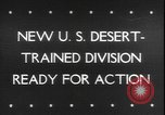 Image of armored division California United States USA, 1943, second 1 stock footage video 65675077080