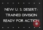 Image of armored division California United States USA, 1943, second 2 stock footage video 65675077080