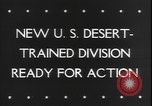Image of armored division California United States USA, 1943, second 4 stock footage video 65675077080