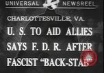 Image of Franklin Roosevelt Charlottesville Virginia USA, 1940, second 1 stock footage video 65675077093