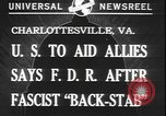 Image of Franklin Roosevelt Charlottesville Virginia USA, 1940, second 4 stock footage video 65675077093