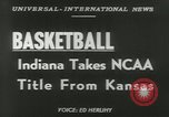 Image of basketball match Kansas United States USA, 1953, second 2 stock footage video 65675077109