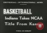 Image of basketball match Kansas United States USA, 1953, second 5 stock footage video 65675077109