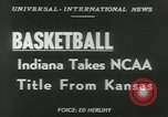Image of basketball match Kansas United States USA, 1953, second 6 stock footage video 65675077109