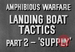 Image of landing boats United States USA, 1944, second 11 stock footage video 65675077223