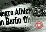Image of Jesse Owens wins the 100 meter dash Berlin Germany, 1936, second 1 stock footage video 65675077353