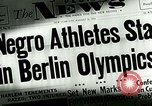 Image of Jesse Owens wins the 100 meter dash Berlin Germany, 1936, second 3 stock footage video 65675077353
